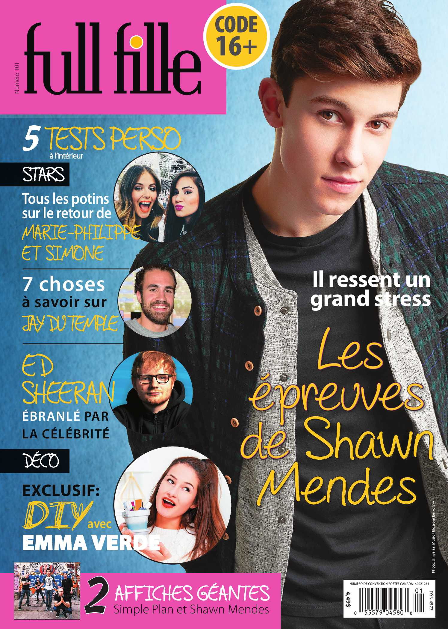 Couverture FULL FILLE 0101 magenligne.com Shawn Mendes