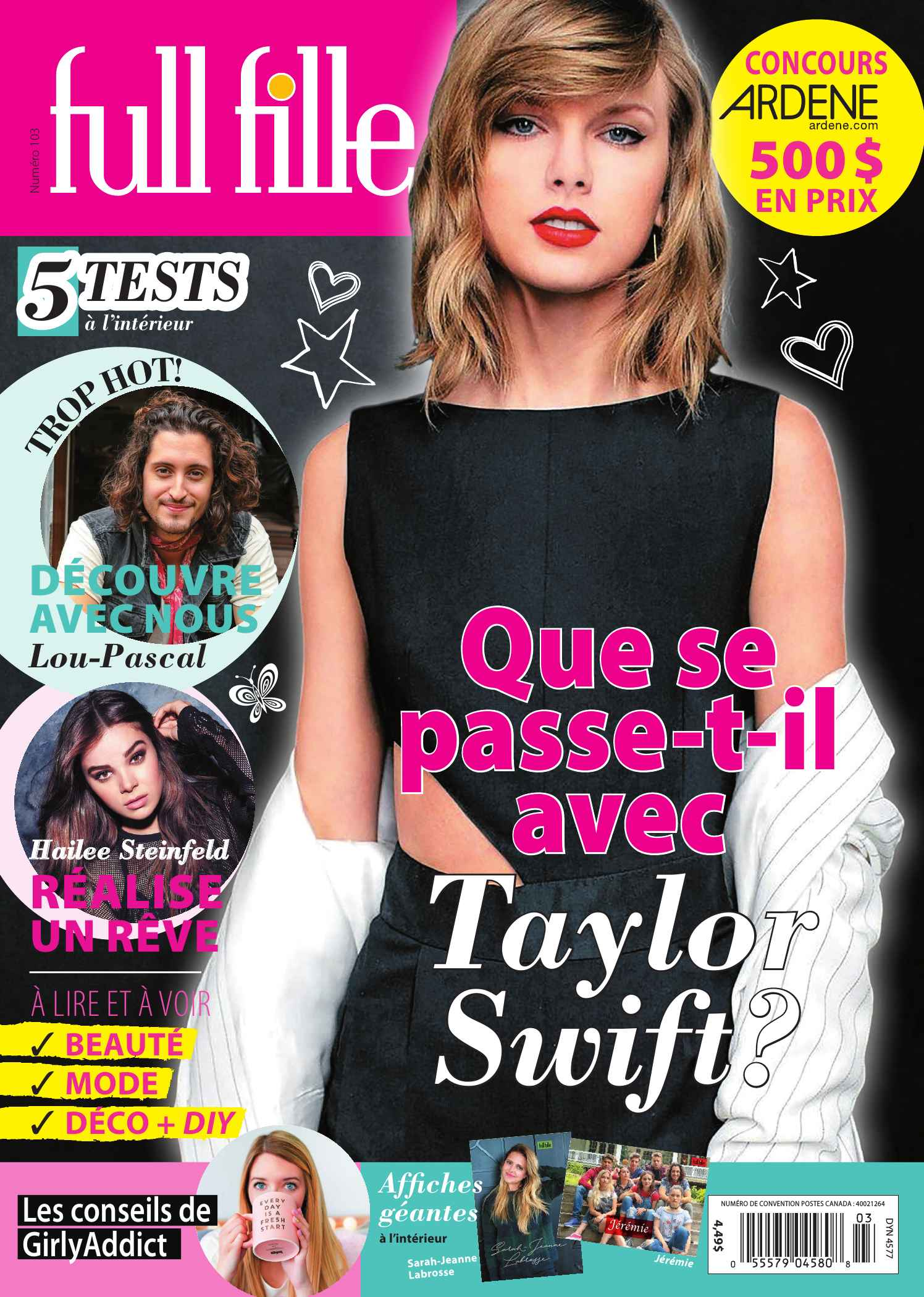 Couverture FULL FILLE 0103 magenligne.com Taylor Swift